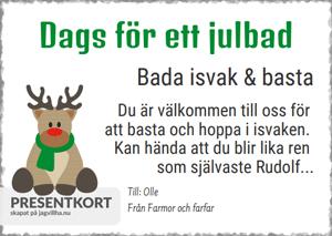 Presentkort mall med Rudolf